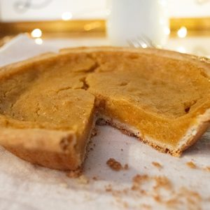 Sweet Potato Pie Cut