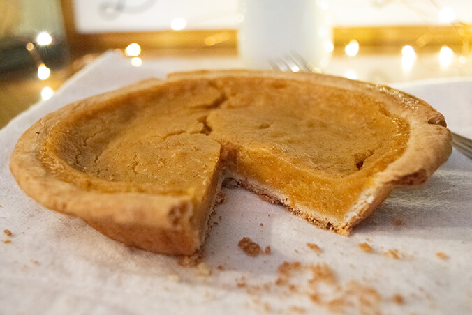 Sweet Potato Pie Cut
